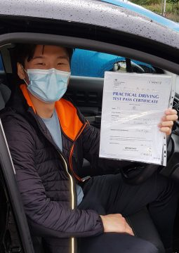 Jason passing his driving test on the 11th August 2021.