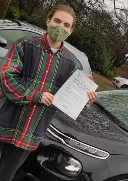 Theo passing his driving test on the 18th December2020.