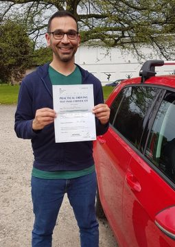 Chris passing his driving test on the 29th May 2021.